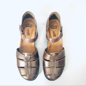 Clark's Bronze Leather Sandals
